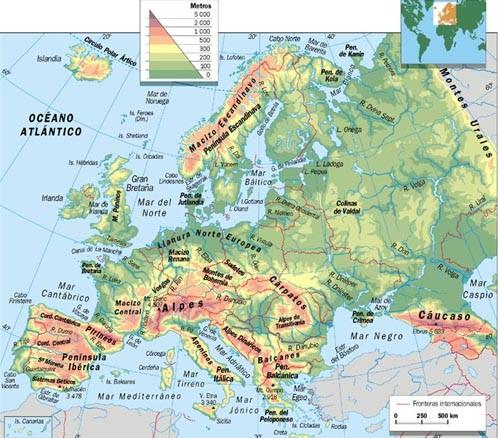 mapa de europa politico. Mapa físico Europa.jpg