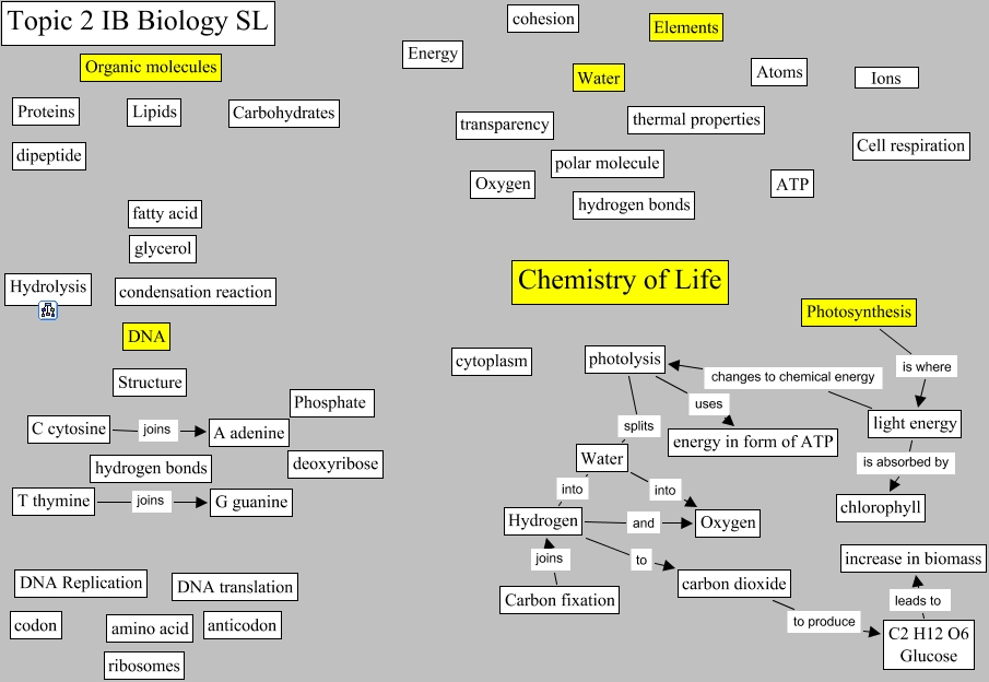 Topic 2 Chemistry of Life   Topic2 summary