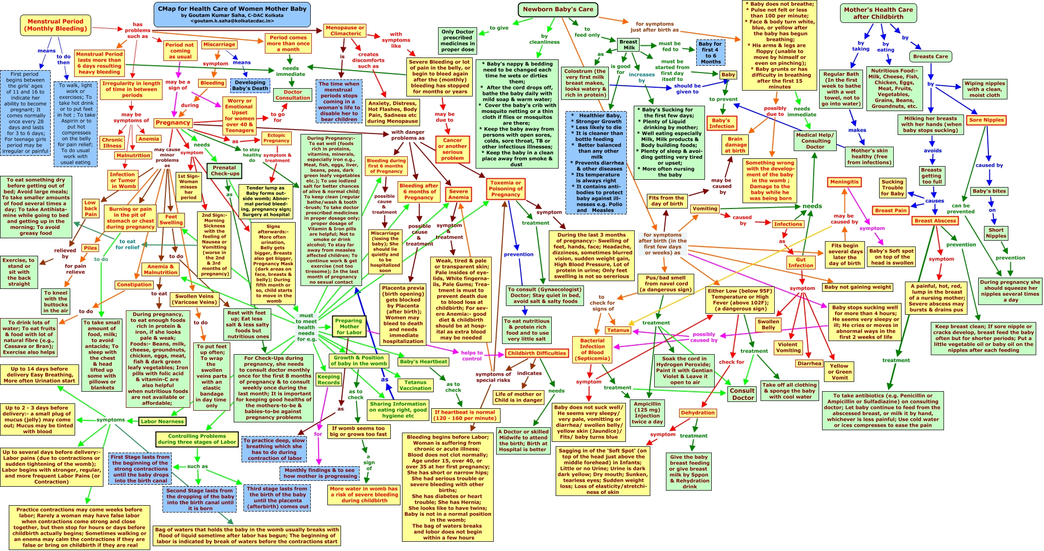 Concept Mapping of Health Care for Women Mothers & Midwives   What