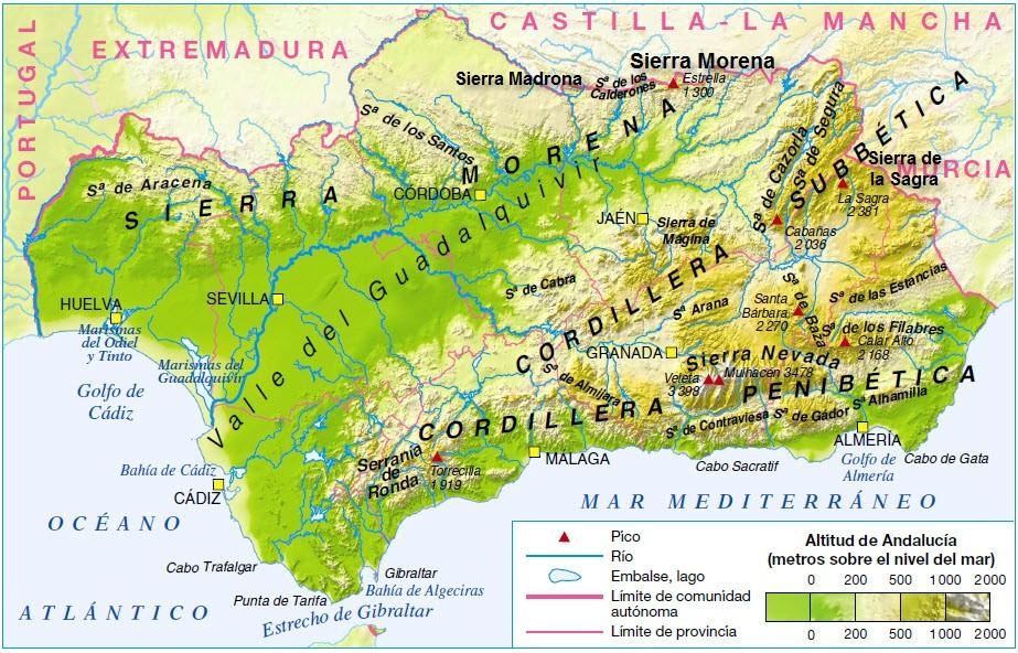 Marismas Del Guadalquivir Mapa.Blog De Geografia Profesor Pedro Ona La Depresion Del