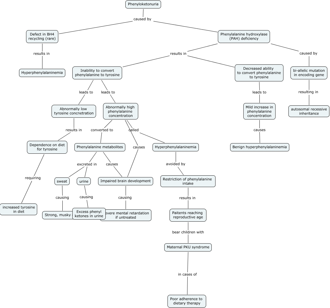 Mutation Concept Map.Phenylketonuria Pku