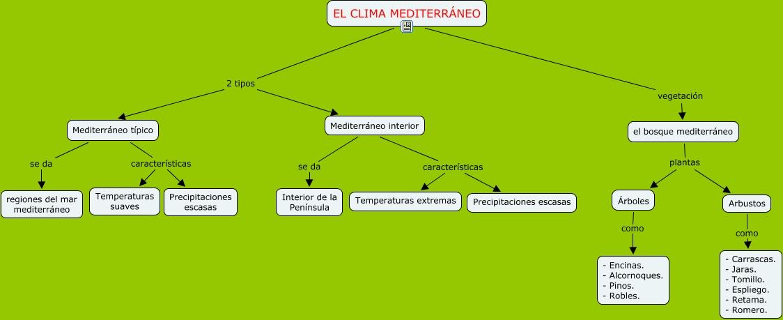 El clima mediterr neo c for Tipos de arboles y caracteristicas