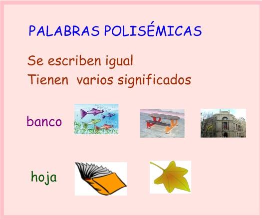 Segundo de Primaria.2014-2016: PALABRAS POLISÉMICAS