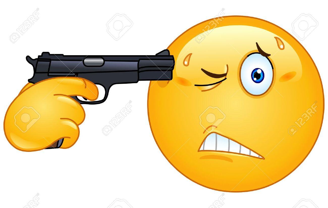 Ihmc public cmaps 3 10740233 emoticon pointing a gun on his head stock vector smiley face emoticong buycottarizona Images