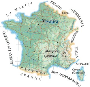 Cartina Francia Sud Dettagliata.America Latina